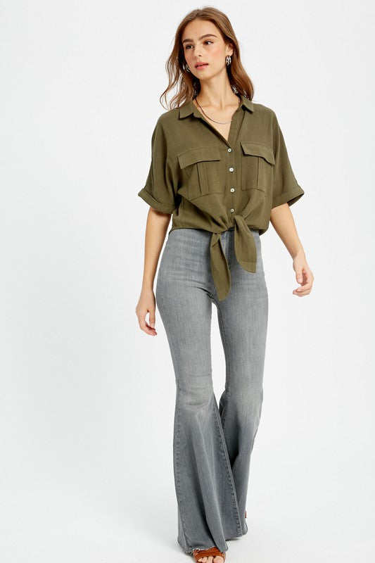 The Robin Button Down Tie Top