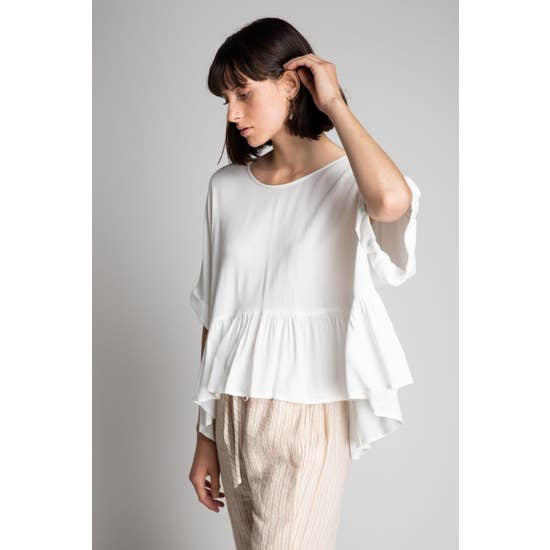 The Miranda Boxy Ruffle Top