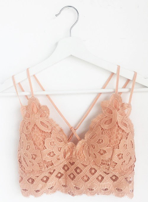 The Boheme Lila Crochet Lace Bralette - Select Colors