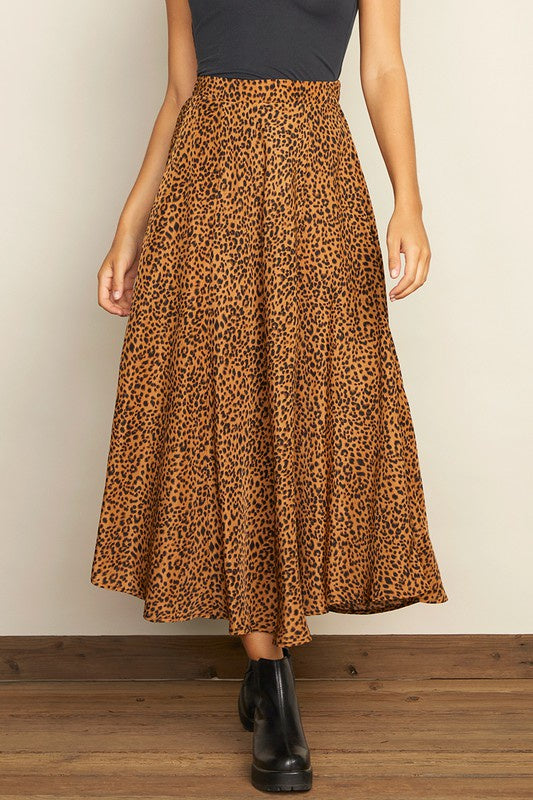 The Nicolette Cheetah A-line Skirt