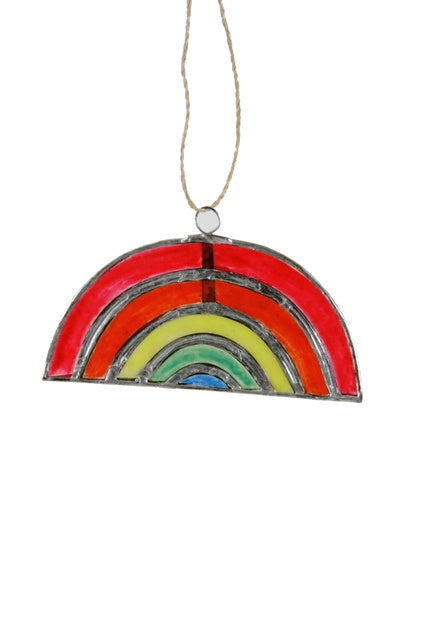 The Capiz Rainbow Ornament