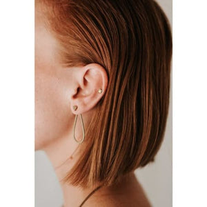 Tiny Geometric Studs by Rebekah Vinyard Jewelry