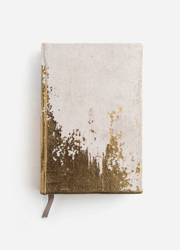 Grey Abstract Daybreak Velvet Journal