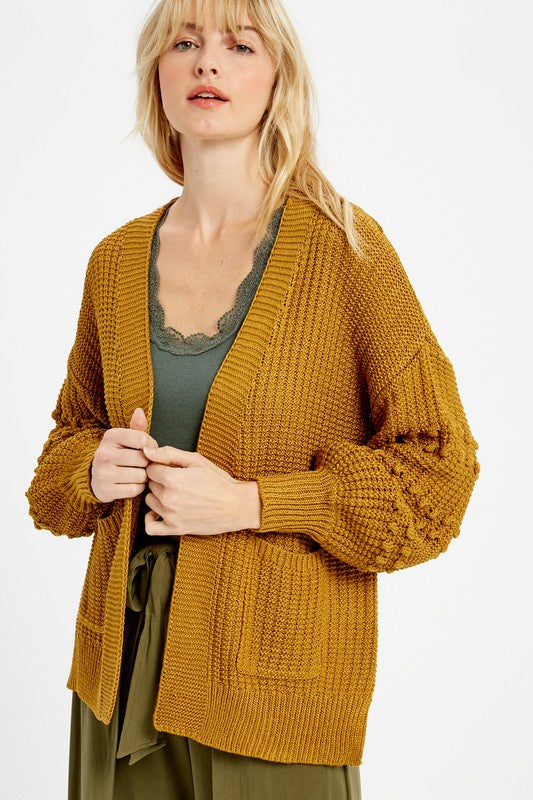 The Rebecca Pom Pom Sleeve Cardigan