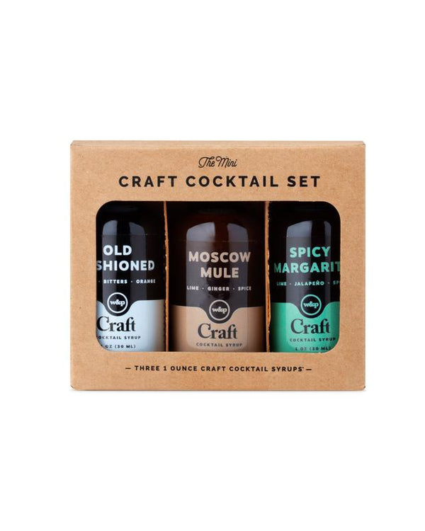 The Mini Cocktail Syrup 3-Pack Set