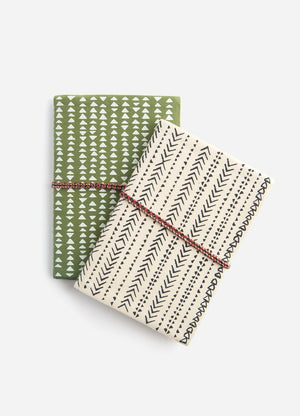 Dash & Geometry Fabric Journals