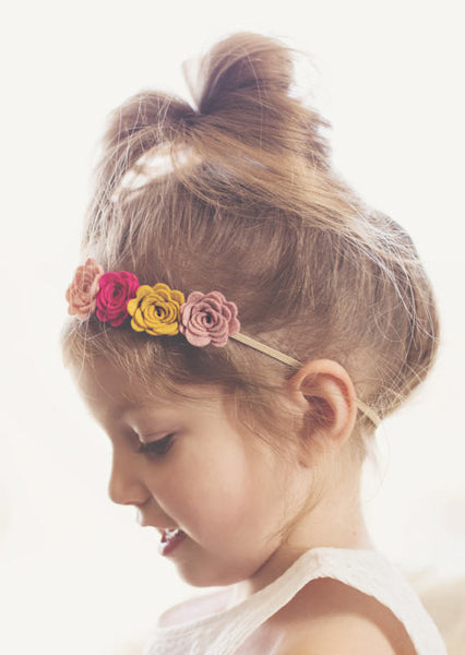 Felt Flower Crown in Dandelion and Blush