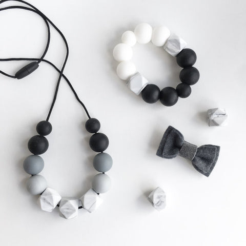 Marble Ombre Teething Necklace
