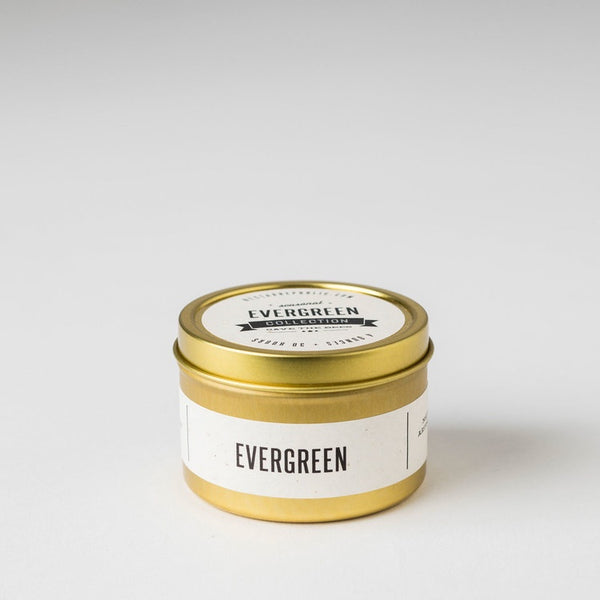 Evergreen Travel Tin Candle