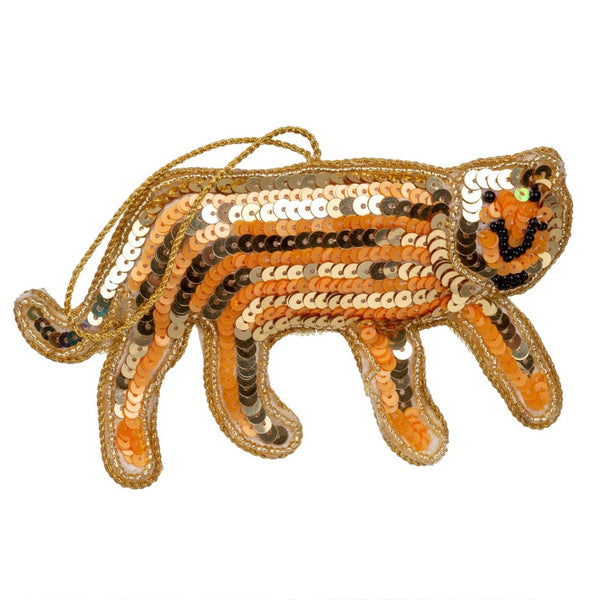 The Tiger Sequin Plush Ornament