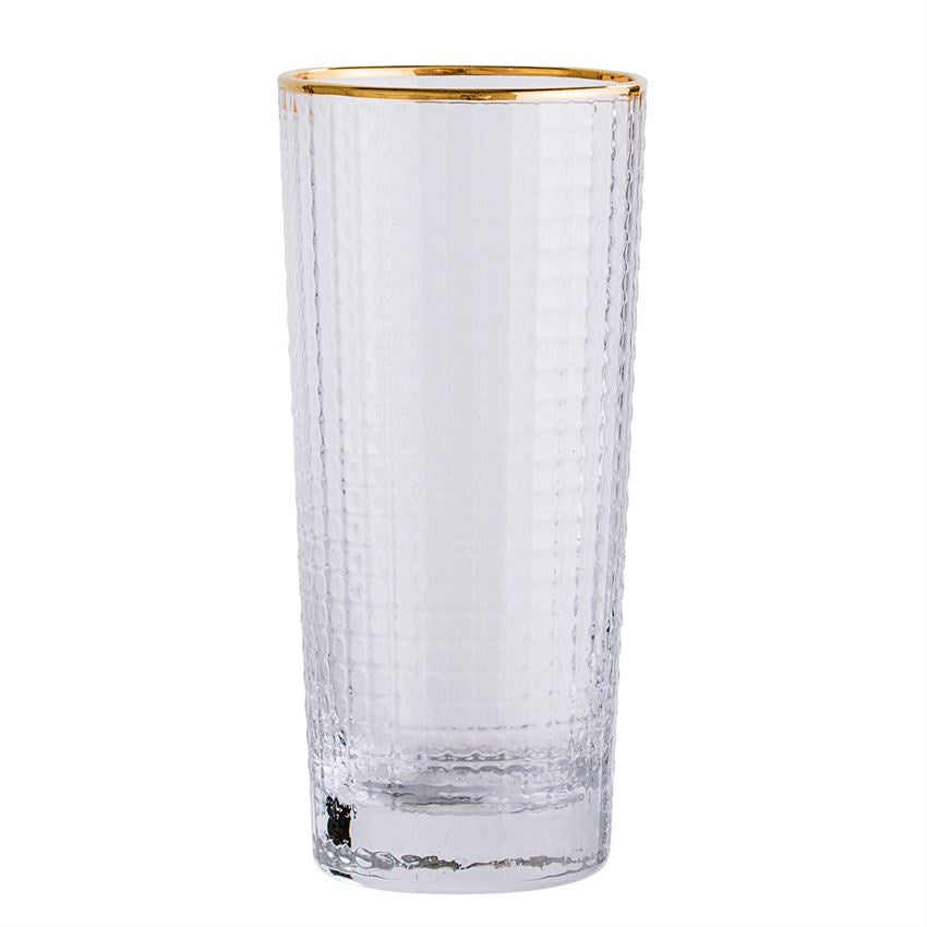 Gold Rimmed Highball Glass