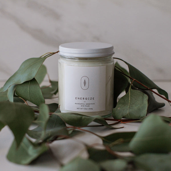 Energize Candle by Three Leaf Studio