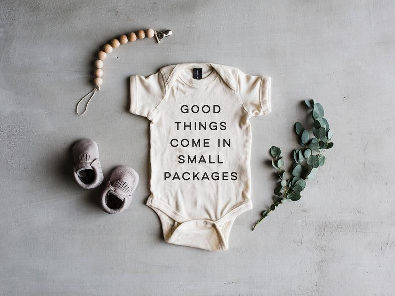 Good Things Come In Small Packages Baby Onesie
