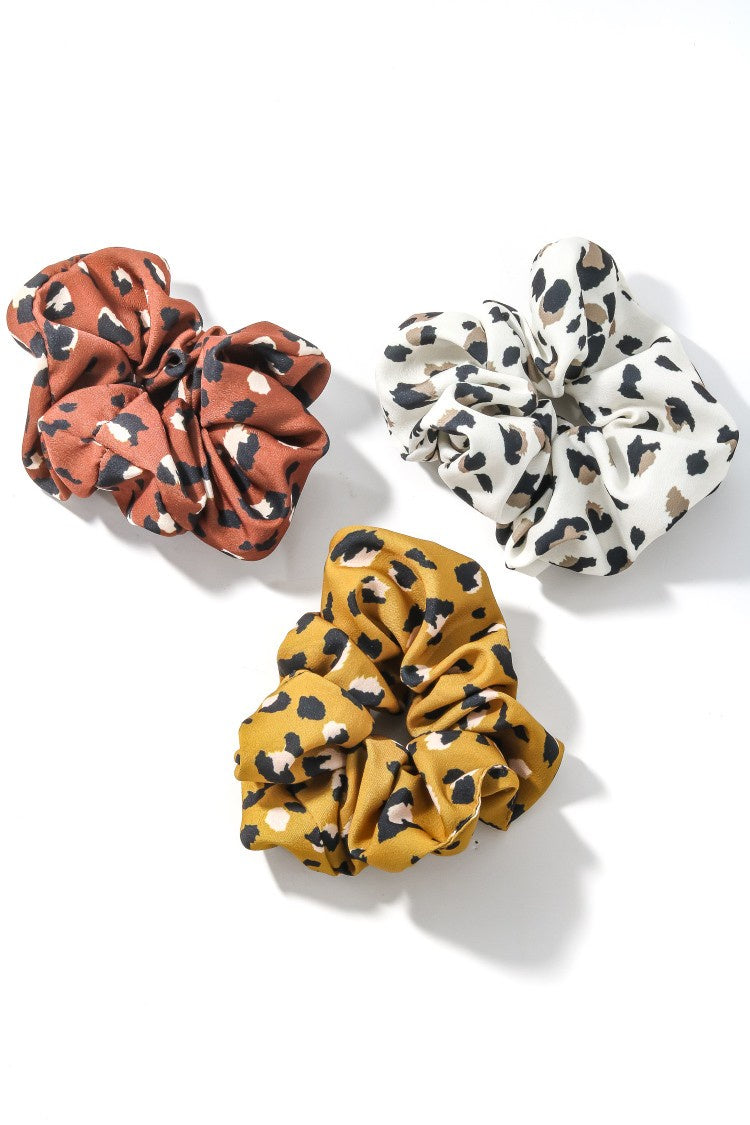 The Charlie Leopard Scrunchie