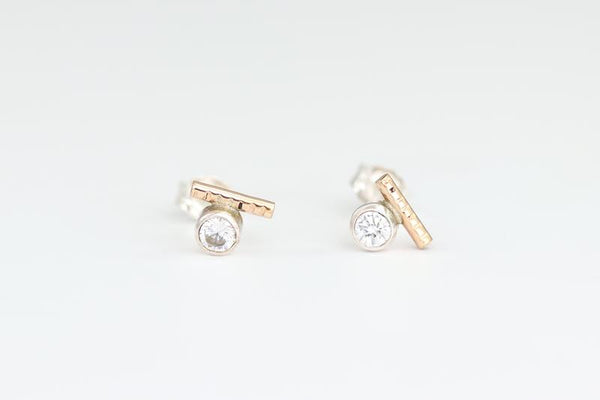 The Dot Line Earrings By Sloane Jewelry