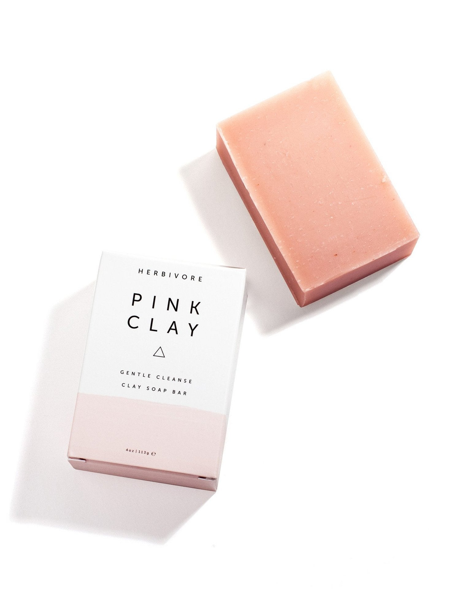 Pink Clay Cleansing Bar Soap by Herbivore Botanicals