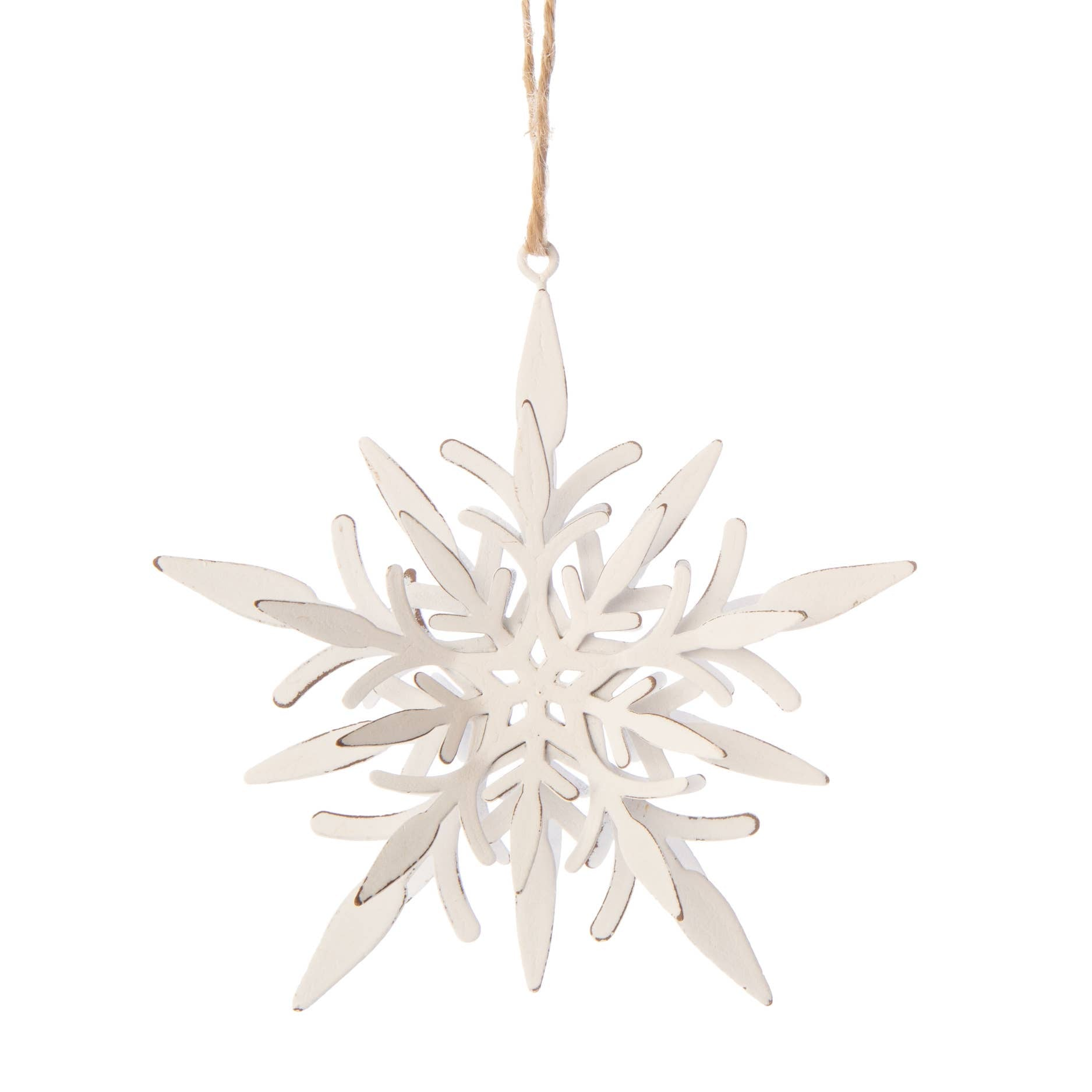 The Antiqued White Snowflake Ornament