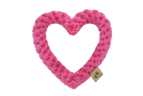 Rope Heart Chew Toy