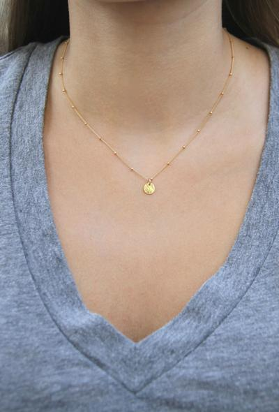 The Gold Coin Necklace By Wander + Lust
