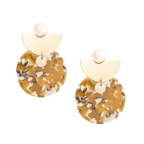 The Chole Acrylic Statement Earrings By Mod + Jo