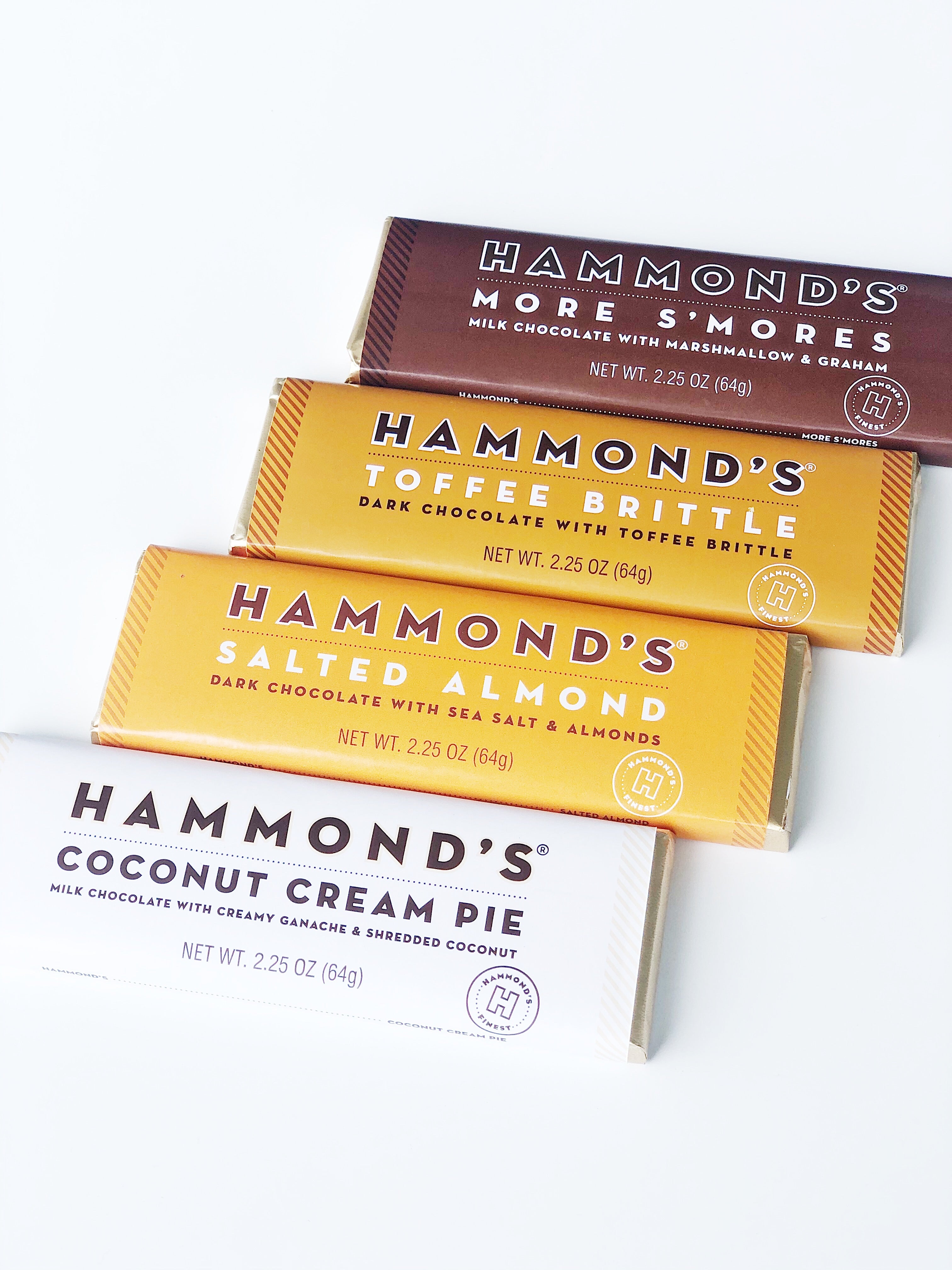 Salted Almond Chocolate Bar by Hammond's