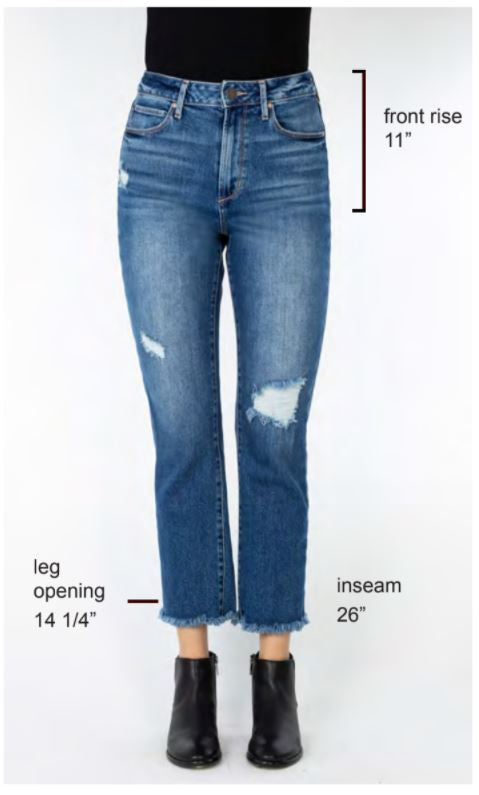 The Kate Cropped Straight Leg Jeans by Articles of Society - Glenwood