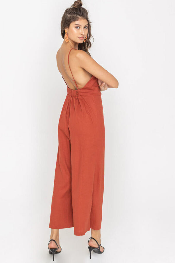 The Justina Low Back Jumpsuit