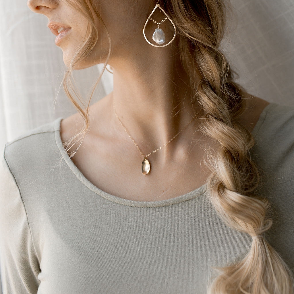 The Pooled Light Necklace by Token Jewelry