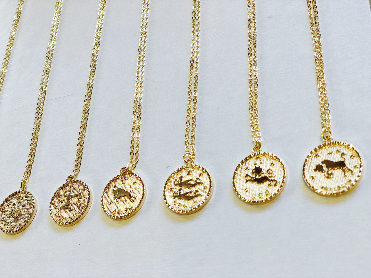 The Sahar Gold Dipped Horoscope Coin Necklace