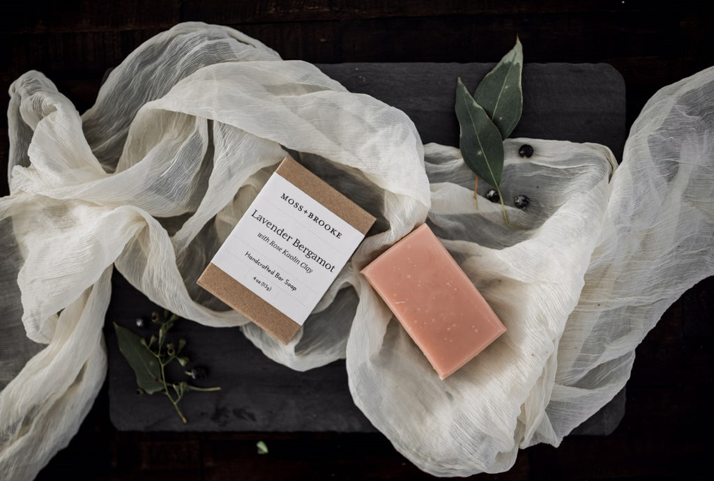Lavender Bergamot Bar Soap by Moss + Brooke