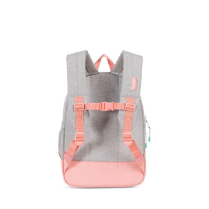 Light Grey Crosshatch/Yucca/Peach Rubber Heritage Youth Backpack by Herschel Supply Co.