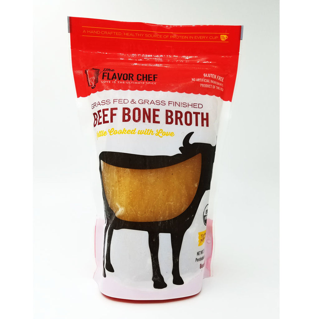 Organic Grass Fed & Grass Finished Beef Bone Broth