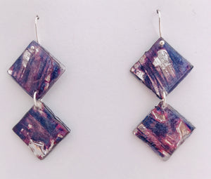 Two Tier CD Earrings with Sterling Silver Hooks