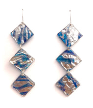 Three Tier CD Earrings with Sterling Silver Hooks
