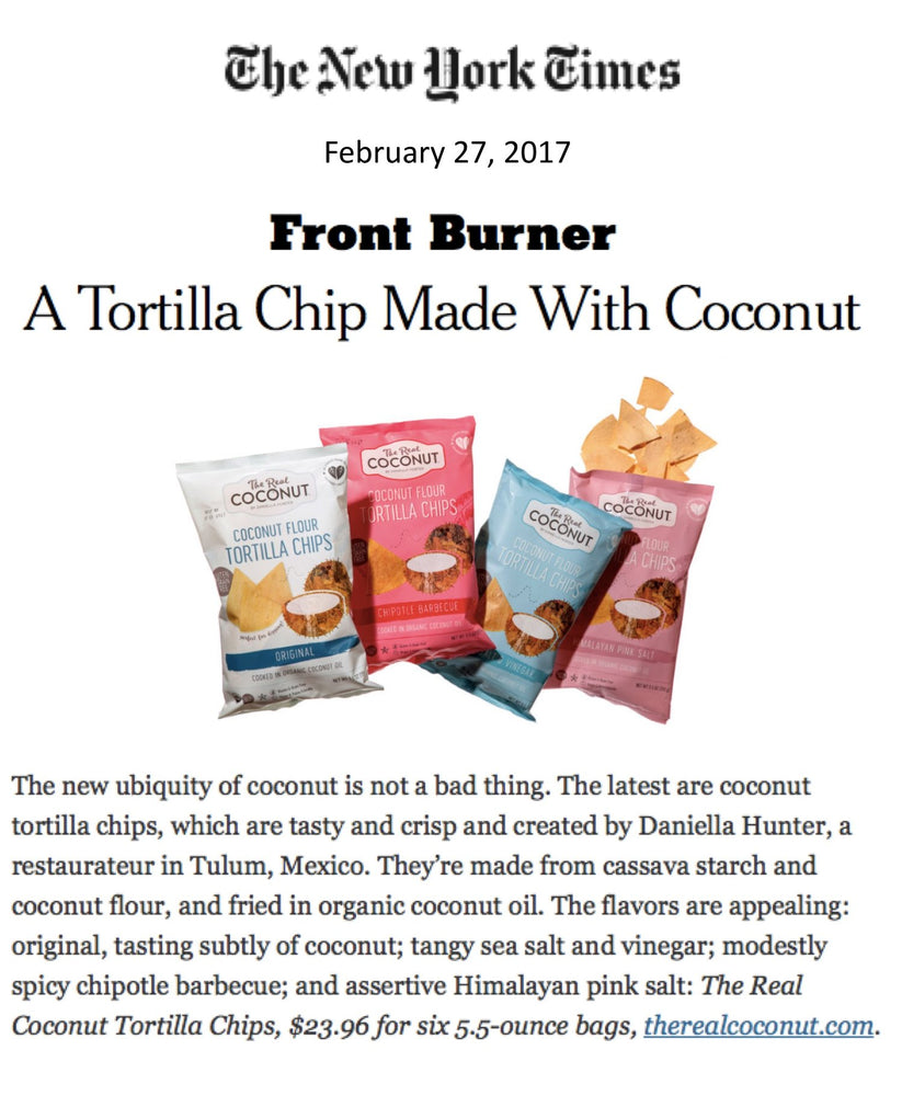 New York Times reviews TRC chips and announces SHOP.