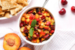 Stone Fruit Salsa with Cinnamon Sugar Tortilla Chips