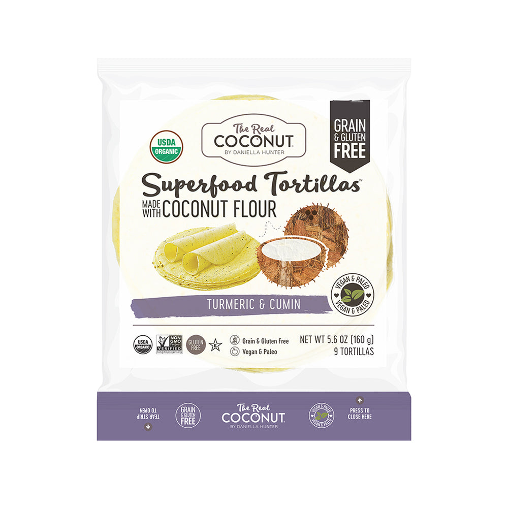 Grain Free Superfood Tortillas - Turmeric & Cumin