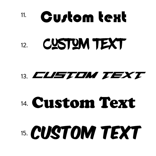 Custom Text Only Decals - VINYL HOUZE