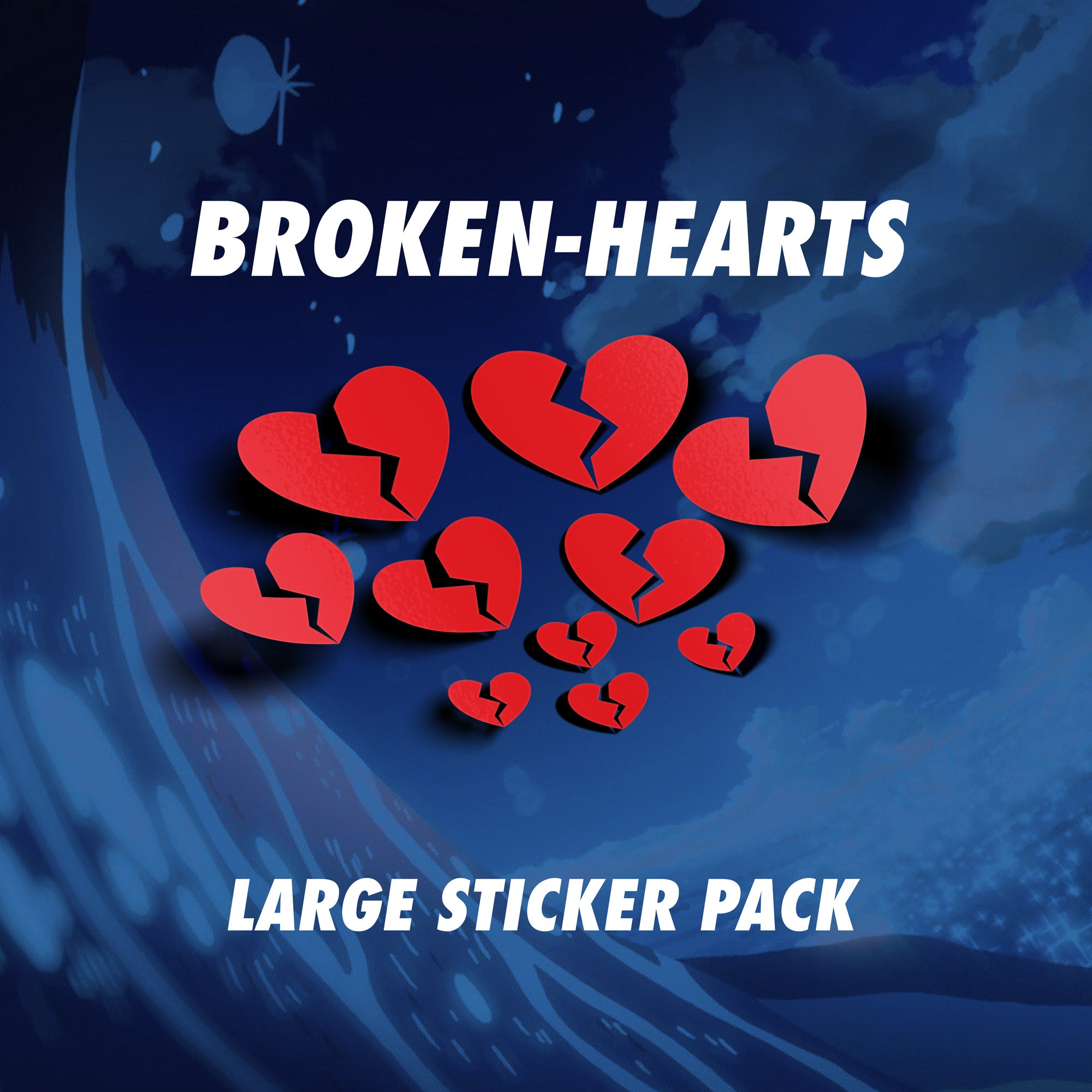 Large Broken Hearts Livery Sticker Pack - VINYL HOUZE