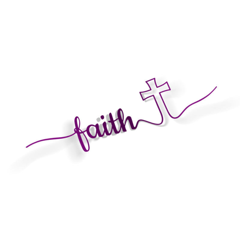 Faith & Cross Decal - VINYL HOUZE