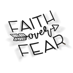 Faith over Fear Arrow - VINYL HOUZE