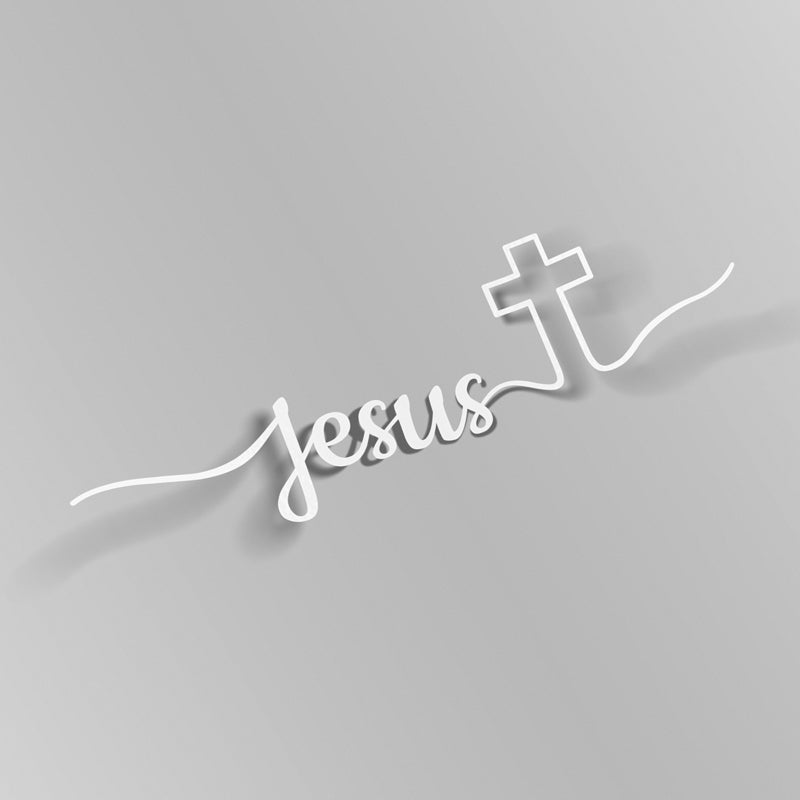 Jesus Cross Decal - VINYL HOUZE