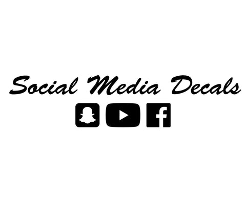 Custom Social Media Name Decals - VINYL HOUZE
