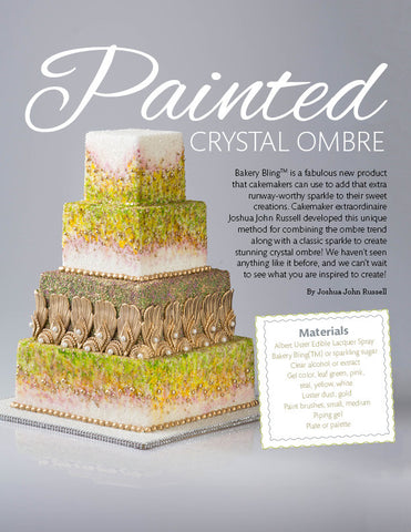 Painted Crystal Ombre Cake Tutorial PDF