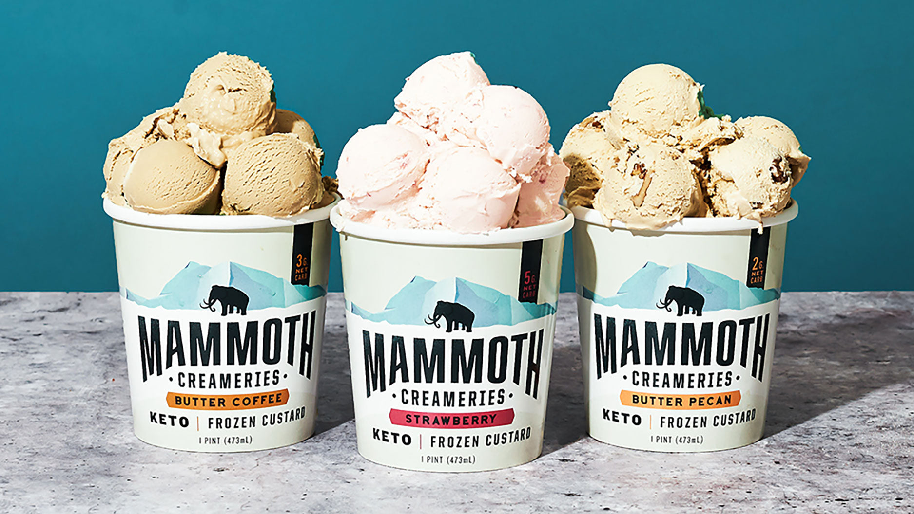 Mammoth Creameries keto ice cream new flavors