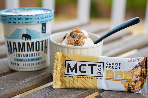 gluten free dessert pairing with Mammoth Creameries and MCTBar