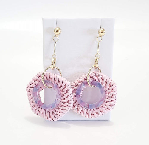 Ivore Chic Round Drop Earrings