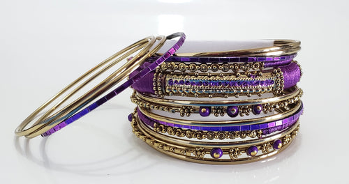 Purple Breeze Bracelet Stacks