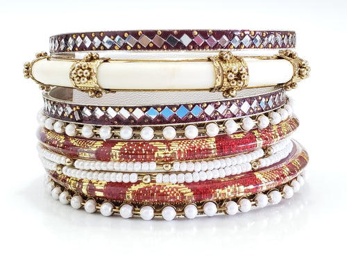 Red Rue Bracelet Stacks