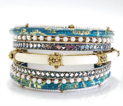 Blue Breeze Bracelet Stacks